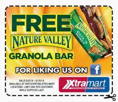 Free granola bar.
