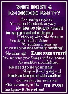 Why Host a Facebook Party. www.facebook.com/amylynne.jamberrynails