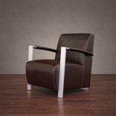 Newark Industrial Vintage Tobacco Leather Chair