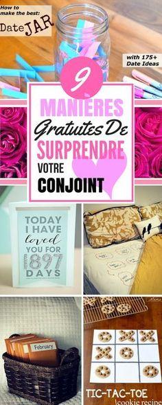 Voici 9 MANIÈRES GRATUITES DE SURPRENDRE VOTRE CONJOINT. Changez la routine avec votre homme ! #cadeaux #trucs #astuces #trucsetastuces #homme #conjoint #couple #gratuit