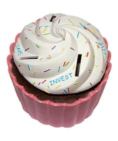 Take a look at this Money Scholar Cupcake Bank by Money Scholar on #zulily today!