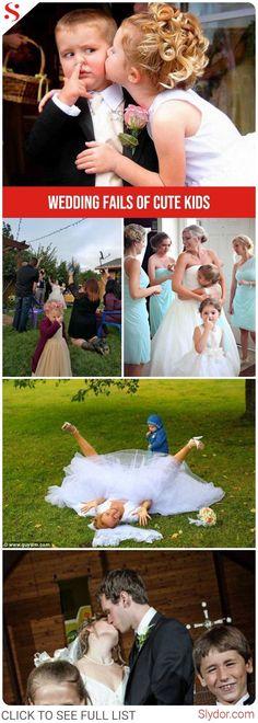 Wedding Fails Because Of Cute Kids