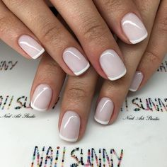 """6,736 Likes, 37 Comments - #1 NailArt Chain In Russia (@nail_sunny) on Instagram: """"Молочный French OPIGELCOLOR - 1200₽ / маникбр 200₽= 1400₽ мастер Армина, @nail_sunny Киевская…"""""""