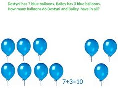 This is an interactive PowerPoint presentation used to teach first grade addition and subtraction. This document can be edited to fit your class needs. It is aligned with Georgia Common Core standards. First Grade Addition, Math Addition, Addition And Subtraction, Math Subtraction, Teaching First Grade, Blue Balloons, Common Core Standards, Georgia, Presentation