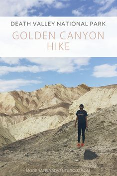 If you are looking for a cooler hike in Death Valley National Park, look no further than the Golden Canyon Hike. I loved this hike for the incredible views and many options for length and direction. Check out this article for more information. #DeathValley #GoldenCanyonHIke #redcathedral #moderatelyadventurous