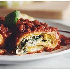 Lasagna Roll Ups with Almond Ricotta // Hot For Food. Find this recipe and more on our Vegan Feed at http://www.thefeedfeed.com/vegan #feedfeed