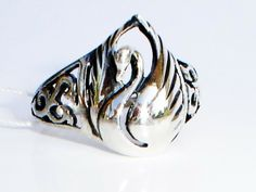 Gorgeous Swan Ring Sterling Silver Size 5.5 by expressyourself, $95.00
