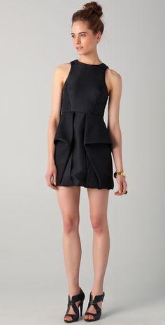 Tibi Sleeveless Open Back Dress