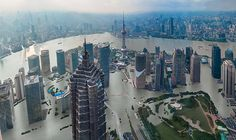 A projection of what Shanghai, China, will look like in a world that is 4 degrees warmer (c. 2100). (Photo: Climate Central)