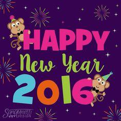 Happy New Year everyone! Best wishes to everyone and a great year ahead! #newyear #newyear2016 #digitalart #illustration #2016 #drawdaily #draweveryday #illustratorsofinstagram