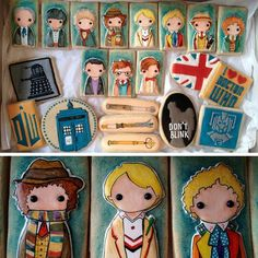 Doctor Who cookie set. I like doctor who. And cookies. David Tennant, Doctor Who Party, Doctor Who Birthday, Good News Stories, Kinds Of Cookies, Making Cookies, Don't Blink, Eleventh Doctor, Geek Out