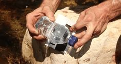 Water bottles are for more than just drinking, you can also use one to start a fire.