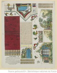 Maison du Petit Chaperon rouge, Imagerie d'Epinal, Pellerin, 1868