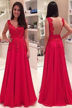 Prom Dress,Prom Dress 2016.Backless Prom Dress,Red Prom Dress,Lace