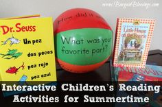 These are some awesome Interactive Children's Reading Activities for Summertime! #summer