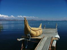Peruvian totora boats have been sailing around Lake Titicaca in Peru and Bolivia for thousands of years and are among the oldest known types of boats in the world. They come in all sorts of sizes and constructing a boat is a traditional craft handed down from generation to generation.
