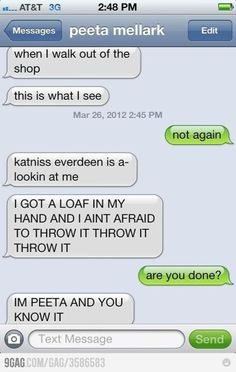 Peeta Mellark's text messages   Hunger Games Fandom