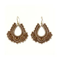In den Farbtönen Gold, Beige und Braun Den, Crochet Earrings, Beige, Gold, Accessories, Jewelry, Fashion, Moda, Jewlery