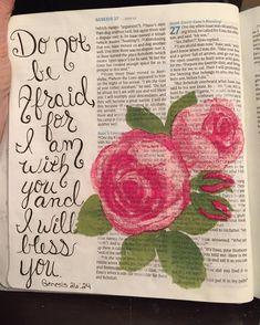 #biblejournaling #genesis #donotbeafraidforiamwithyou Better One, Journaling, Blessed, Bible, Sayings, Instagram, Biblia, Caro Diario, Lyrics