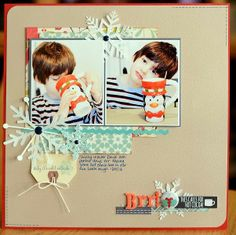 #papercraft #scrapbook #layout - Happenings on this side river: Sketchy Thursday