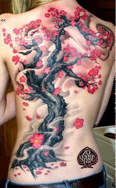 Тату сакура Значение татуировки сакуры, эскизы и