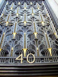 Art Deco Artwork, Art Deco Pattern, Classic Interior, Painting & Drawing, Metal Working, Objects, Design Inspiration, Doors, Interior Design