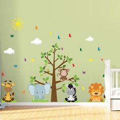 Descrição    Seis simpáticos filhotes vão deixar o cantinho dos pequenos muito mais alegre! Com cores vivas e vibrantes, as crianças brincam em um ambiente aconchegante que agrada aos olhos. Além disso é uma excelente alternativa ao papel de parede convencional, pois a aplicação é muito mais simp...