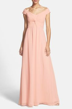 Clarisse Off-the-Shoulder Front Twist Chiffon Gown by ERIN erin fetherston on @HauteLook