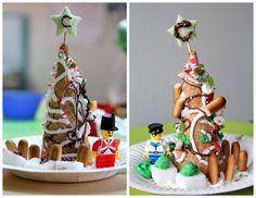 Ice Cream Cone Christmas Tree With Lego Figurine. Done By My 4 U0026 6 Years