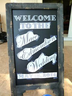 From a former co-workers blog, great idea for any type of sign!!!...how to make wedding chalkboard