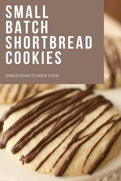 Buttery, small batch shortbread cookies recipe. These cookies are easy to make and only a few ingredients needed. Recipe yields 3-4 shortbread cookies. Shortbread Cookies, Desserts, Food, Tailgate Desserts, Deserts, Essen, Postres, Meals, Dessert