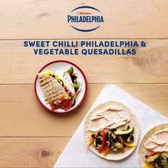 Give your quesadillas a rich and satisfying twist with the creamy taste and delicious chilli kick of Philadelphia Sweet Chilli. Everyone will love this flavour-packed Mexican-style lunch alternative!