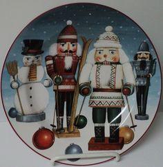 NUTCRACKER PLATE DC Brown Christmas Holiday Salad Plate 2004 David Carter Brown