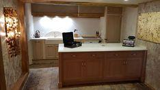 Bespoke oak kitchen Le Mounestier Decor, Double Vanity, Oak Kitchen, Vanity, Bathroom Mirror, Framed Bathroom Mirror, Bathroom Vanity, Kitchen, Bathroom