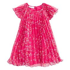 First Impressions Baby Girls Pink Pleated Floral Dress 36 Months