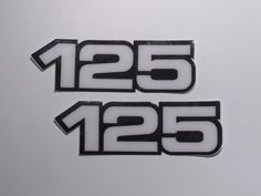 Yamaha, Side Panel Decals, 125, White