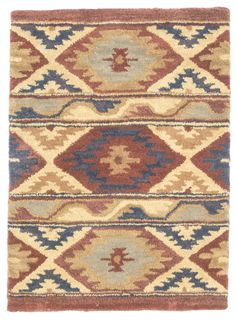 2' x 3' Southwest Design Wool Small Rug by Rug Shop and More