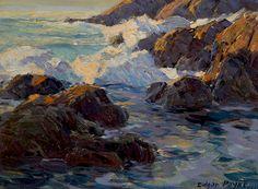 Edgar Payne (1883-1947). A Rocky Coastal Seascape, 1919. 11.5 x 15.75 in.