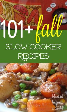Fall is approaching and it's time to get out your beloved slow cooker. Here are 101  easy fall slow cooker recipes to keep you sane this season. Which easy crock pot recipe will you try first?