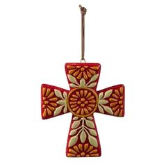 Red Ceramic Cross
