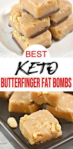 Low Carb Keto Butterfinger Candy Fat Bombs Idea – No Bake – Sugar Free – Quick & Easy Ketogenic Diet Recipe – Completely Keto Friendly – Keto Recipes and Ideas – Desserts Keto Fat, Low Carb Keto, Lchf, Banting, Paleo, Low Carb Sweets, Low Carb Desserts, Dessert Recipes, Postres
