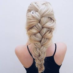 when it comes to French braids, the bigger the better