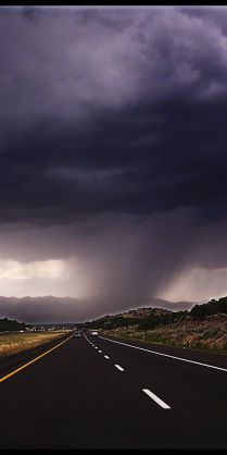 . Storm's  coming. - Are you going to ride through it or take the easy way out, & ride from it?
