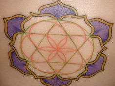 Merkaba - Flower of LIfe - Lotus Not a fan of the colors, but I like the concept of the three symbols combined