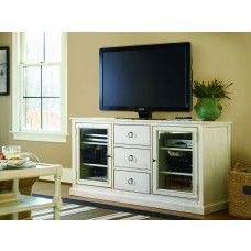 """Universal Furniture Summer Hill Entertainment Console in Cotton - 65""""W"""