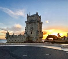 Love this shot of the Torre de Belém (Belém Tower) at #sunset. In comparison to my usual trips there which is usually full of tourists there was hardly anyone around at that time. Look at that #sky in the background