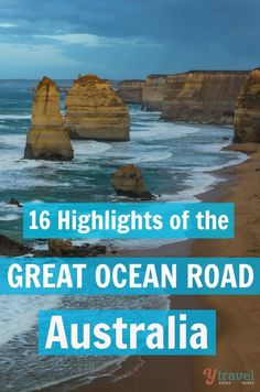 16 Highlights of the Great Ocean Road Drive in Australia Highlights of The Great Ocean in Australia - a must for your Oz travel bucket list Perth, Brisbane, Visit Australia, Melbourne Australia, Australia Travel, Australia Visa, Australia 2017, Australia Tours, Western Australia