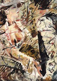 """""""Far West 1885"""", DETTAGLIO, grafite, olio e china su foglio di tela, 1985, assieme cm 46×61"""