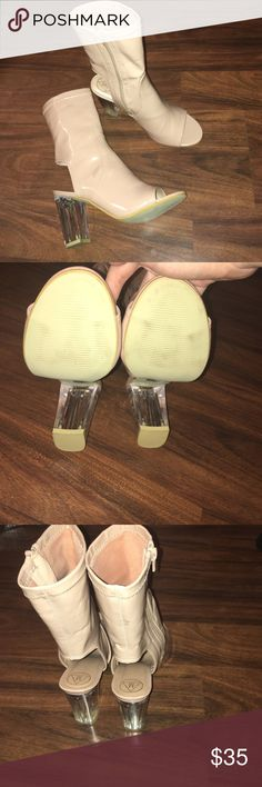 Misguided heels Never worn outside! Never worn! Perfect condition, these are super cute but just haven't had the right time to wear them. They need love and affection! Missguided Shoes Ankle Boots & Booties