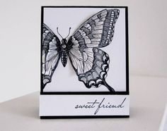 Black & White Swallowtail by brandycox - Cards and Paper Crafts at Splitcoaststampers